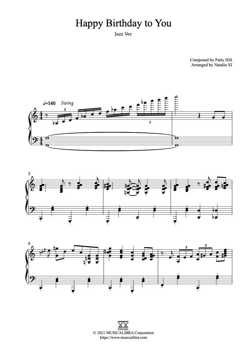 ハッピー バースデー 楽譜