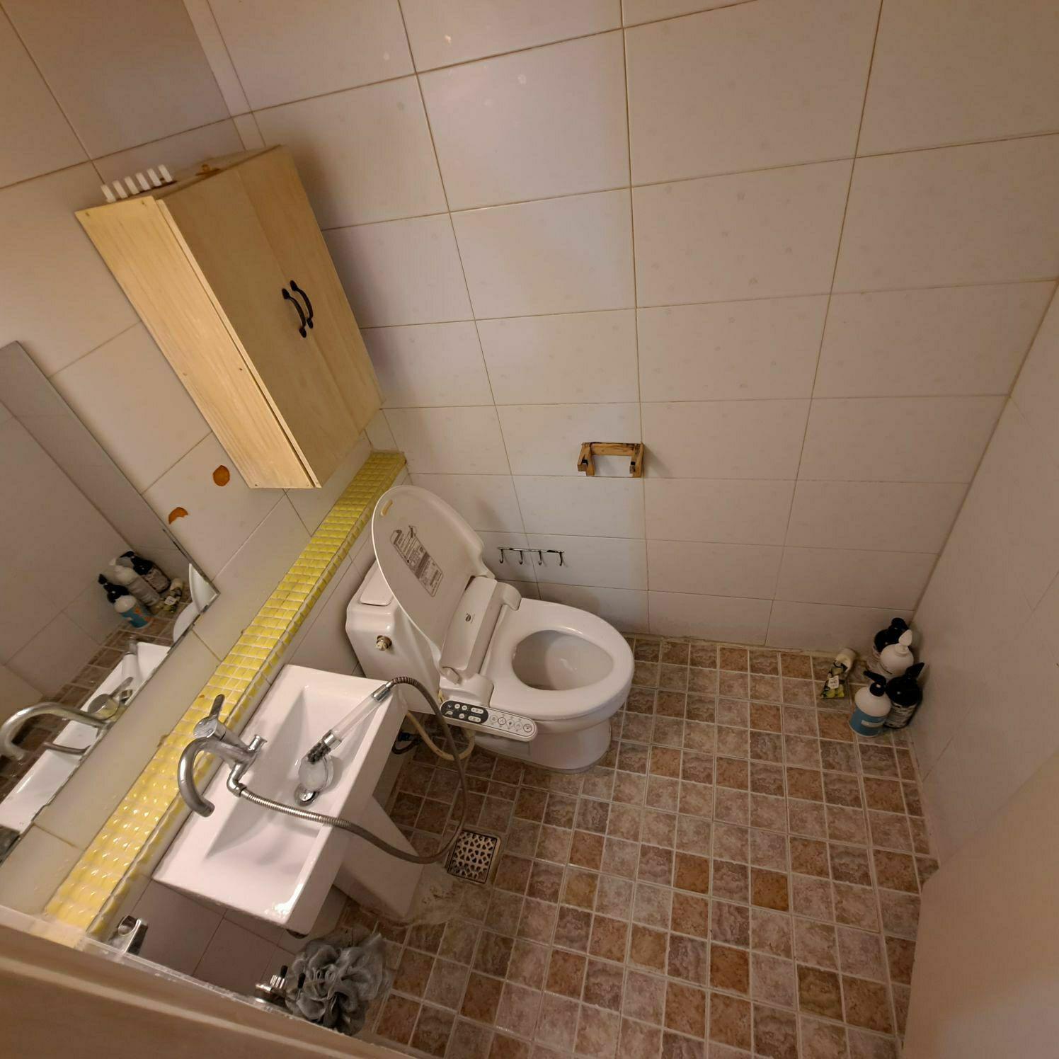 쓰레기집 청소후 화장실 사진