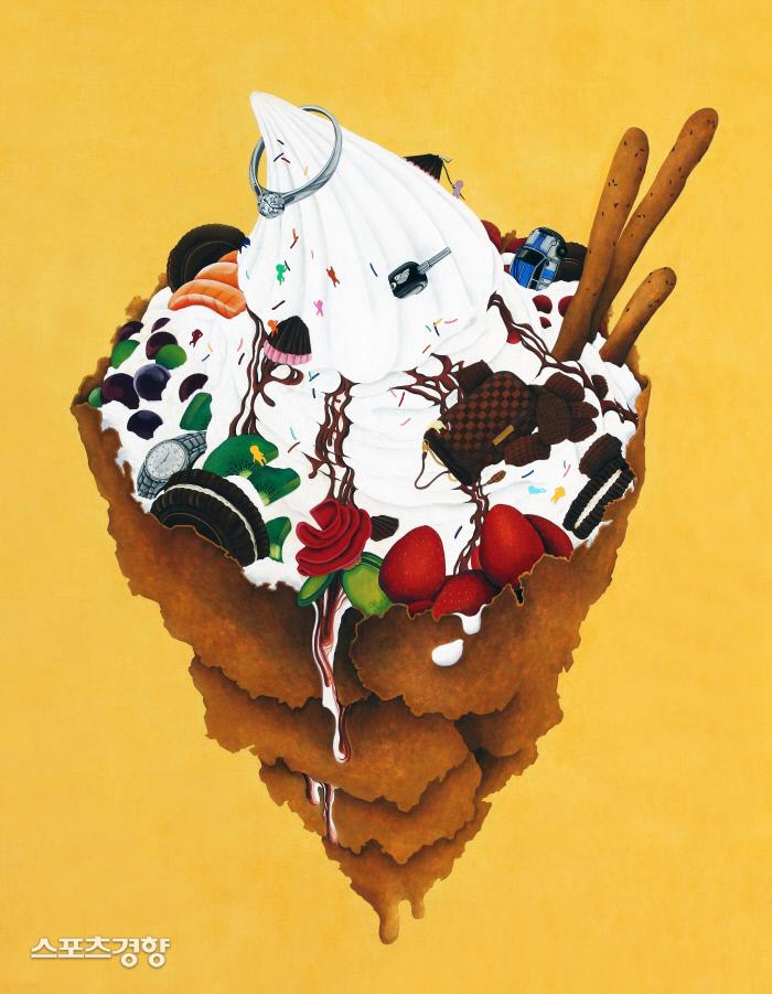 조아해 '욕망' 162.2x130.3cm, 한지에채색, 2014