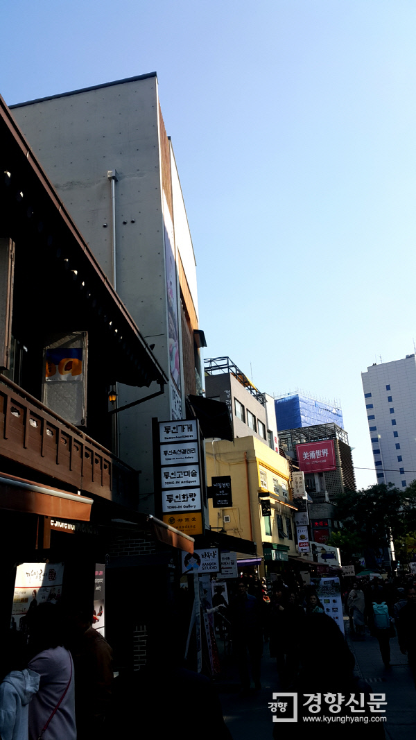 통인가게(화랑) 인근 거리 모습. 사진 | 손재철 기자 son@kyunghyang.com